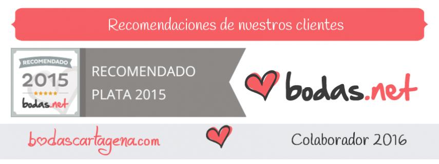 Bodas Cartagena - Recomendado Plata 2015 bodas.net - Colaborador 2016