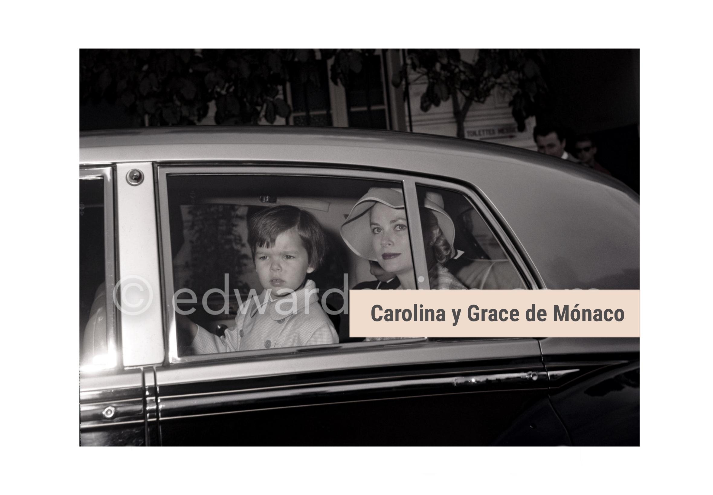Carolina y Grace de Monaco Rolls Royce Silver Cloud